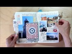 beautiful travek journal  - i love how she includes sand of the beaches in little transparent pockets!