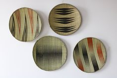 SALE Woven wall baskets, Rwanda baskets, Wall decor, African baskets, Boho baskets, Hanging wall baskets, Rwanda baskets, Set of 4 #FruitBowls #BohoBaskets #HandmadeBaskets #DecorativeBowls #WovenWallBaskets #RwandaBowls #AfricanBaskets #HangingBowls #WallDecor #AfricanDecor Hanging Wall Baskets, Toy Storage Baskets, Market Baskets, Decorative Bowls, Wall Decor, African, Boho, Etsy, Wall Hanging Decor