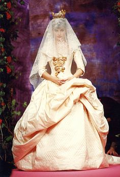 Christian Lacroix Haute Couture Fall-Winter 1990 by Christian_Lacroix, via Flickr. I remember seeing this in a magazine when it was a new design, still beautiful.