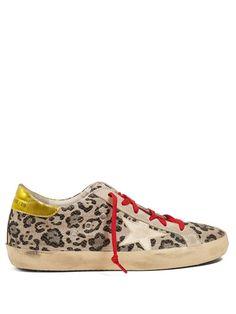 Golden Goose Deluxe Brand Super Star low-top leopard-print trainers