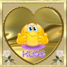 Love & hug Quotes : Hugs - Quotes Sayings Big Hugs For You, Hug You, Gifs, Smiley Emoticon, Smiley Faces, Emoticon Faces, Naughty Emoji, Hug Quotes, Emoji Images