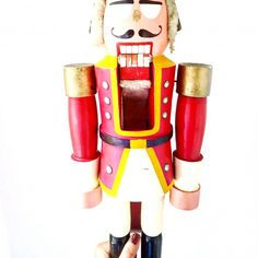 Monochrome, Red, Nutcrackers, Old Wood