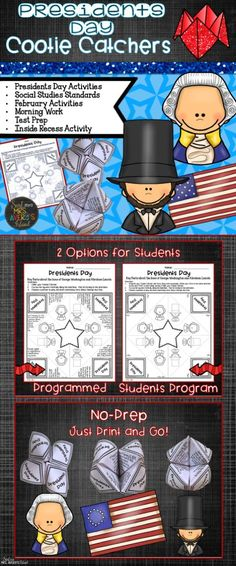 This Presidents Day activity will give your students a hands-on approach as they learn facts about George Washington and Abraham Lincoln!  #teachersfollowteachers #teacherspayteachers #tpt #iteach #iteachtoo #presidentsday #socialstudies #education #learning #homeschooled #homeschooling #homeschooler