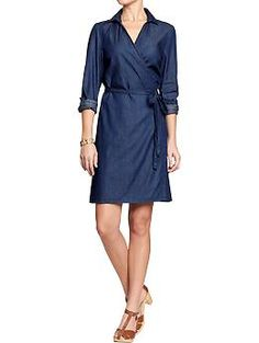 Womens Chambray Dresses via Old Navy. Cute in theory...I'd have to try it on! $17.50