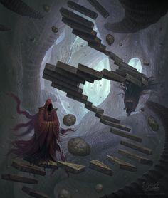 As ilustrações de fantasia com toques sombrios de Martin de Diego Sádaba