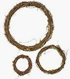 Grapevine Wreath Set – 3 PC Vine Branch Decorative Wooden Twig BROWN Assorted for sale online Easter Wreaths, Fall Wreaths, Christmas Wreaths, Mesh Wreaths, Diy Christmas, Indoor Wreath, Magnolia Farms, Dollar Store Halloween, Halloween Porch Decorations
