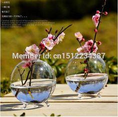 Terrarium borosilicate hanging glass flower vase 8*8cm ball round sphere tabletop vases home wedding decoration transparent