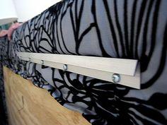 Great idea for hanging headboard