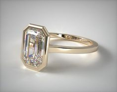 Carat (ctw) Princess Cut Diamond Engagement Rings for women and Wedding Band Set in White Gold 41279 engagement rings, solitaire, white gold bezel solitaire engagement ring emerald center item – Mobile Platinum Engagement Rings, Solitaire Engagement, Bijoux Or Rose, Wedding Jewelry, Wedding Rings, Bijoux Art Deco, Wedding Band Sets, Emerald Cut Diamonds, Diamonds