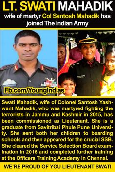 Young India Facebook Page for Inspiring the Youth Young India meet Lt.  Swati Mahadik,