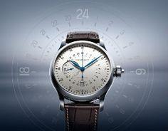 The Longines Twenty-Four Hours Single Push-Piece Chronograph