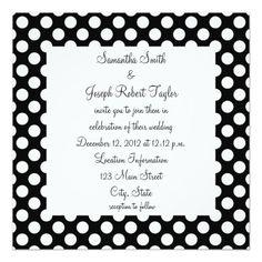 249 best polka dot wedding invitations images on pinterest in 2018