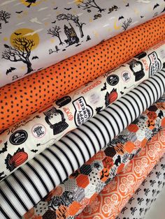 Happy Haunting fabric bundle by Deena Rutter and Riley Blake Designs - Fat quarter bundle, 7 total by fabricshoppe on Etsy