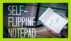 Self-Flipping Notepad (DVD and Gimmick) by Victor Sanz, Street Magic,Mentalism Magic Trick,Illusion,Close up magic