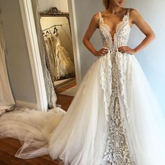 "Pallas Haute Couture ""Venise"" Gown with Detachable Skirt"