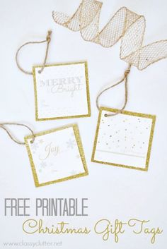 Free Printable Christmas Gift Tags | www.classyclutter.net
