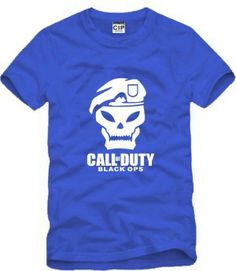 2014 Summer New Men's Call of duty T shirts Short Sleeve Hiphop Skateboard Call of duty T-shirts college $12.79