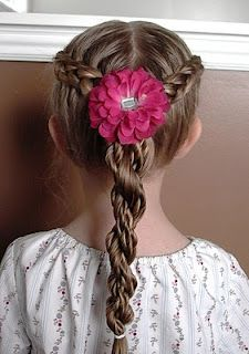Shaunell's Hair: Little Girl's Hairstyles - How to do a French Braid with Super Twist Braid 15-20 min wish I could do this to my girls head