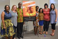 Top Disney bloggers with Queen Of Katwe real life inspirations, chess prodigy Phiona Mutesi and Coach Robert Katende