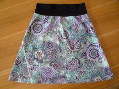 Áčková sukně - jak si připravit střih a ušít si ji Sewing Patterns Free, Free Pattern, Tie Dye Skirt, Couture, Knitting, Womens Fashion, Skirts, Crocheting, Clothing