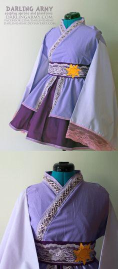 Rapunzel - Tangled - Cosplay Lolita Kimono Dress by DarlingArmy.deviantart.com on @DeviantArt