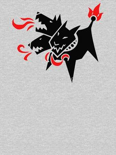 'Cerberus' Relaxed Fit T-Shirt by janistrading Cute Wallpaper Backgrounds, Cute Wallpapers, Japanese Tattoo Art, Dark Tattoo, Flash Art, Sacred Art, Cartoon Styles, Art Inspo, Cool Art