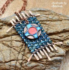 Boho necklace Boho pendant Boho jewelry Ethnic necklace Ethnic pendant Ethnic jewelry Polymer clay jewelry for women Unusual necklace .HBA