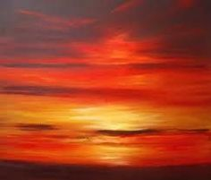 abstract sunset painting for beginners - Google Search #OilPaintingForBeginners