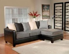 : grey and black sectional - Sectionals, Sofas & Couches