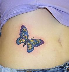 Butterfly Tattoos On Stomach butterfly tattoos - page 4