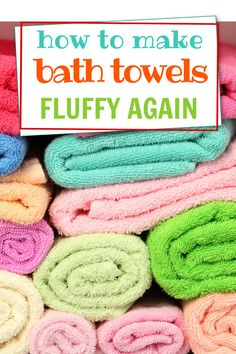 Easy laundry hack for making old bath towels fluffy again. Old Towels, White Towels, Bath Towels, Laundry Hacks, Clothes Line, Laundry Detergent, Mold And Mildew, Household Tips, Homemaking