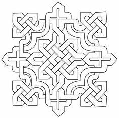 Arabesque Islamic Design Pictures 1 – Deanna M. Islamic Art Pattern, Arabic Pattern, Pattern Art, Pattern Cutting, Celtic Symbols, Celtic Art, Celtic Knots, Geometric Art, Geometric Designs