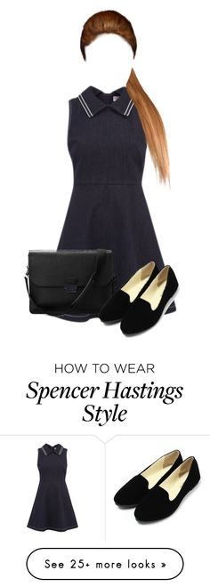 """Spencer Hastings// PLL Series"" by aquamarine03 on Polyvore featuring RED Valentino and Aspinal of London"