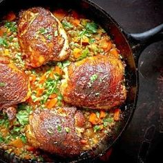 A deliciously flavorful recipe for Berbere Chicken over Ethiopian spiced Lentils with an easy recipe for Berbere Spice Blend. Ethiopian Lentils, Ethiopian Cuisine, Ethiopian Recipes, Lentil Recipes, Warm Food, Food 52, Fall Recipes, Dinner Recipes, Duck Recipes