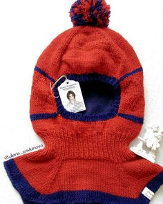 """Cosy and warm hood""""Strawberry-whortleberry cheesecake"""