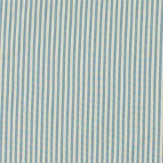 Dralon natur/blå strib teflon belægning