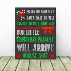 Christmas Pregnancy Announcement, Christmas Baby Reveal, 3rd Pregnancy  Reveal, 3rd Baby, 3rd