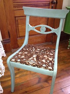 Vintage 1900's DUNCAN PHYFE style CHAIR  by PaintedLadyAntiques, $80.00