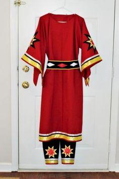 Ladies-Traditional-Ribbon-Dress-leggings-belt-pow-wow-regalia-S-to-3X
