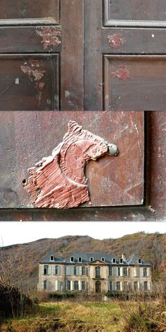 Following the French Revolution, many country houses and Chateaus were confiscated by the new Republic, their rooms sealed by authorities with wax seals and tricolor ribbons.  Miraculously, the remains of these broken wax seals still remain on some doors in the Chateau de Gudanes, currently undergoing restoration by its new owners, Karina and Craig Waters.