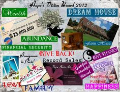 My First Vision Board!  This was so much fun and very empowering.  I Love this idea...