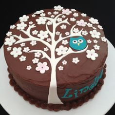 Owl cake - For all your cake decorating supplies, please visit Craftcompany.co.uk