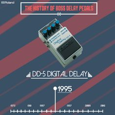 Along with the ability to provide two seconds of delay time, the DD-5 offers eleven different delay modes, making it the most advanced pedal delay at the time by far.  #BOSS #DD5 #stompbox #delay #bosspedals #pedalboard #pedals #guitareffects #guitargear #guitarfx #effectsunit #rolandboss #bossloop #gearnerds #guitarpedals #pedalporn #pedalgeek #knowyourtone  #pedalgram