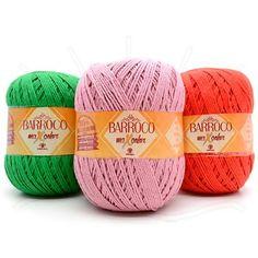 O Barbante Barroco é um barbante ideal para decoração de tapeçaria de cozinha e banheiro  Toda a qualidade deste Barbante agora com as cores lisas!