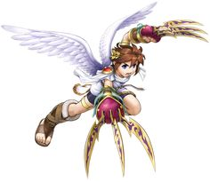 Over 25 years after the launch of the original Kid Icarus game for NES™, Kid Icarus: Uprising brings the action and adventure of this beloved series to new… Icarus Game, Kid Icarus Uprising, Tiger Claw, Character Art, Character Design, Wildest Fantasy, Nintendo, Super Smash Bros, Art Logo