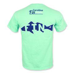 Carolina Fin Fish T-Shirt - Island Reef Green