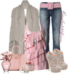 """pretty in pink"" by candy420kisses on Polyvore"