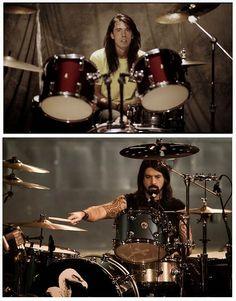 Dave Grohl publico a través de su Facebook una foto del antes y después