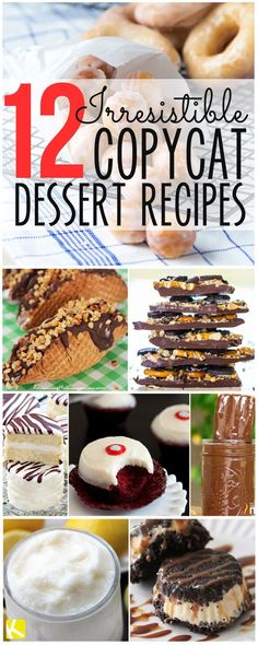 12 Irresistible Copycat Dessert Recipes You Must Try - The Krazy Coupon Lady