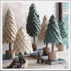 felt christmas trees by princess silvana